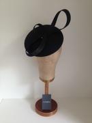 Black Straw 'Beret-look' headpiece by Murley & Co Millinery www.murleyandco.com
