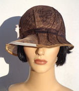 brown sinamay cloche_feltgoood 1
