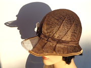 brown sinamay cloche_feltgoood 2
