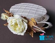 Wedding pillbox hat