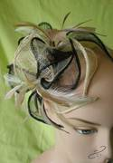 Natural-and-Black-12 petal fascinator