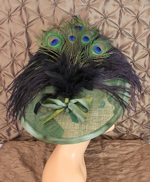 Emerald Diva headpiece