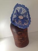 Blue Lace & Cream Felt (with Veiling) by Murley & Co Millinery