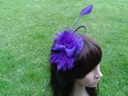 Purple bow, arrowhead and feather