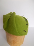 Lime Green Spiked Cloche