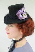 Vintage-Style Tilt Topper with Ribbon Veil & Vintage Flowers