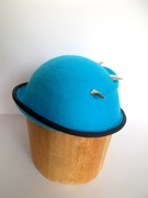 Turquoise Bowler With Silver Claw Studs