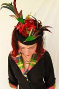 Vintage-Style Whimsical Tilt Topper Hat