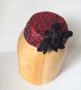 Red Lace Pillbox