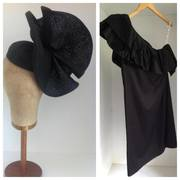 FOR HIRE -  Headpiece by Murley & Co Millinery / Dress by Muccia