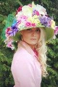 Crazy flower hat