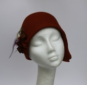 caramel brown cloche