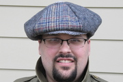 Wool plaid and khaki twill Newsboy cap