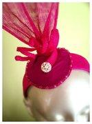Bright Pink Fascinator Headband