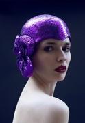 Purple casque