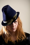 Navy Fur Felt  Hat Fedora