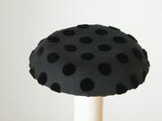 Adele, black polka dots