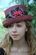 plum colored hat