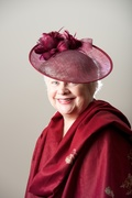 Claret Headpiece