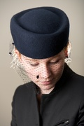 Oxford Blue Veiled Hat