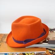 Tangerine Trilby Fedora Unisex,Hat  Millinery