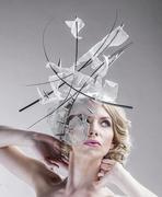 oversized_headpiece_silver_royal_ascot_milliner_millinery_designer_ella_gajewska