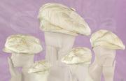 8-piece Wedding Hat - Silk