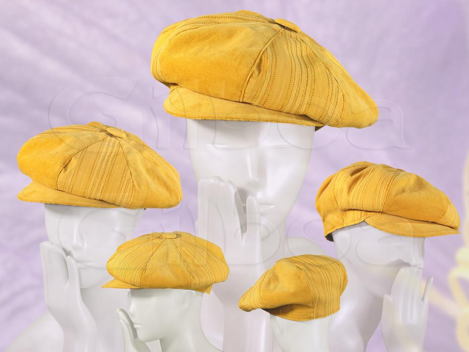 Summery, yellow 8-piece cap