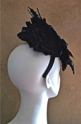 black fascinator hat for women with lace