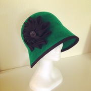 Bottle Green Cloche