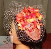 Apricot Peach Blossom Fascinator