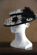 delicate, light, polka dots fascinator hat for women