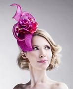 fuchsia_pink_headpiece_hat_women_accessory_ella_gajewska
