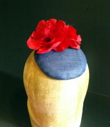 Sinamay Poppy Cocktail Hat