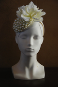 white bridal fascinator hat for women