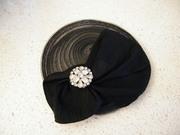 Black cocktail hat handmade in Israel