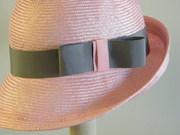 Light pink cloche, handmade parasisal hat