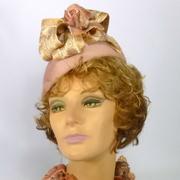 Mauve pink fur felt beret style hat