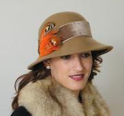 Long brim winter hat