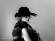 Blach felt hat by Anastasia Frei