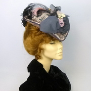 Reproduction Victorian Edwardian Traveling Hat Late 1800s to Early 1900s