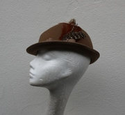 Victorian Topper Women Hat Millinery Beige Neutral