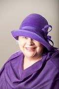 Lavender Cloche Women Hat fur Felt English Millinery