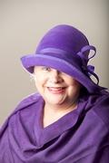 Lavender Cloche Women Hat fur Felt English Millinery