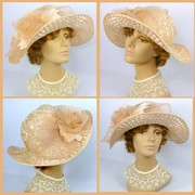 Downton Abbey style Kentucky Derby hat