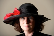 Bespoke Black Wide Brim Hat red poppy women Hat Millinery