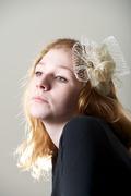 Cream ivory gold Hat Fascinator Headpiece Hand Blocked Luxury Millinery Women Bridal Wedding
