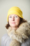 Cloche Hat Millinery Daisy Yellow