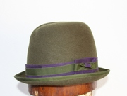 Olive Green Trilby Women Millinery Hat