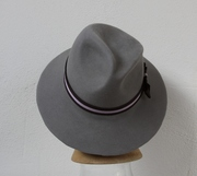 Fedora Silver, grey Women Hat millinery Fur Felt